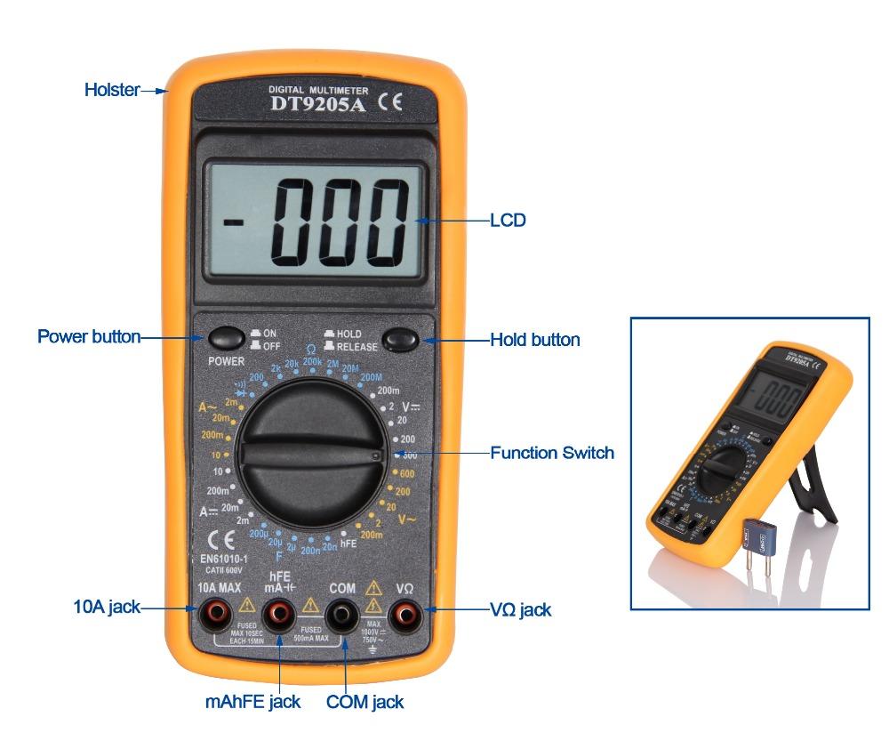 Dt832 Digital Multimeter User Manual Dt830d Circuit Diagram Lcd Ohm Voltage Ampere
