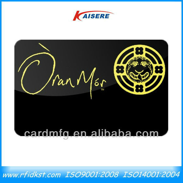 Black PVC Business Cards, Reward Cards