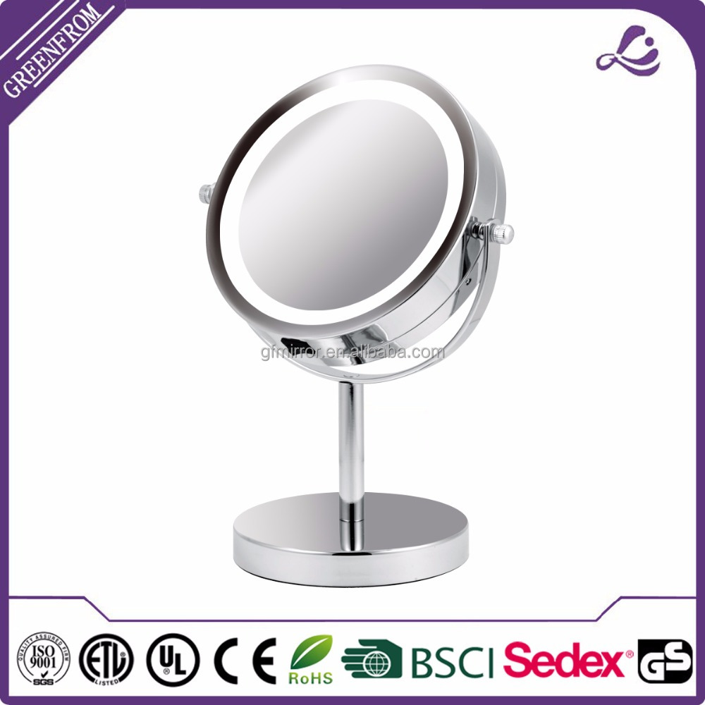 Hot selling bathroom table discount swivel shower mirror with low price