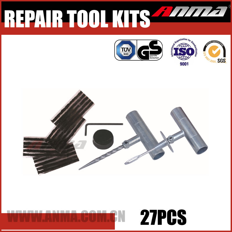Universal radial tire repair patch tubeless tire repair kit