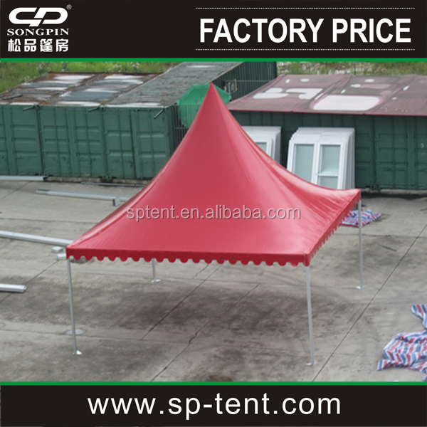 Cheap red roof top custom pagoda tent for party and wedding