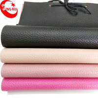 54/54'' Width and Knitted Backing Technics Semi PU/PVC Artificial Leather for Sofa