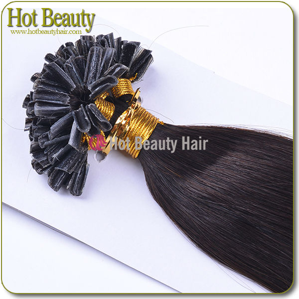 Moderate cost flat-tip human hair extension