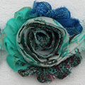 New peacock wedding flower hand painted hair accessories