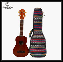 Beautiful Soft Pad Cotton Folk Style Hand Portable Bag Case Cover For Ukulele 21''/23''/26'' Small Guitar Gig Bag