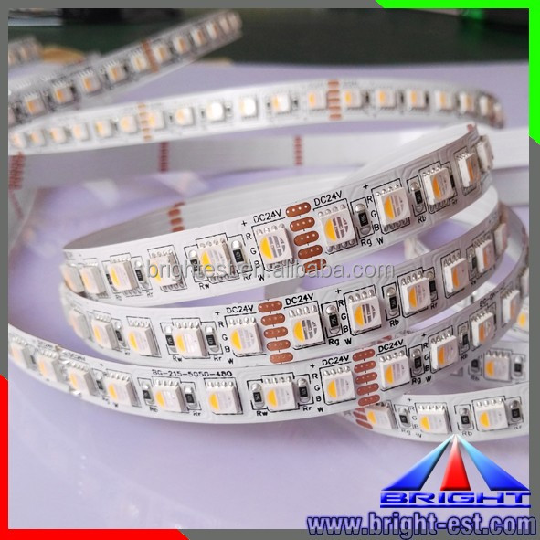 96LEDs <strong>RGB</strong>+W LED Strip, 19.9W <strong>RGB</strong>+WW LED Strip. 2OZ Cupper-2 side supper LED Strip light