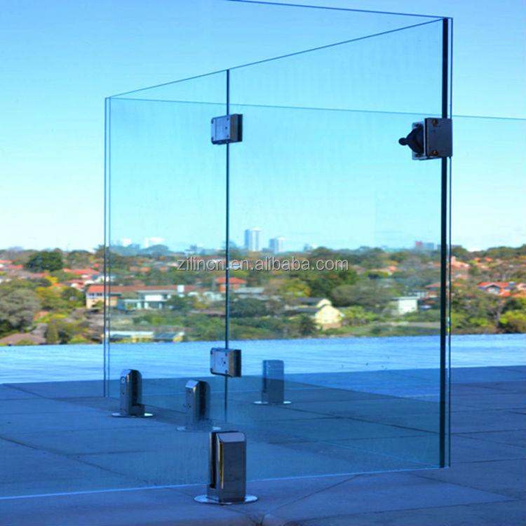 Top Design Frameless Glass Railing For Porch Deck