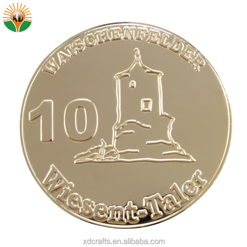 New Design Free Samples Sales Top Gold Metal Coins for Souvenir