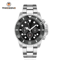 High quality plating bracelet gentleman stainless steel diver automatic watches