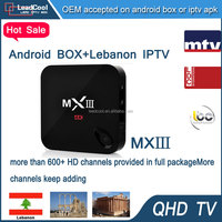 Top selling products 2015 internet tv receiver with Lebanon iptv channels and all european channels