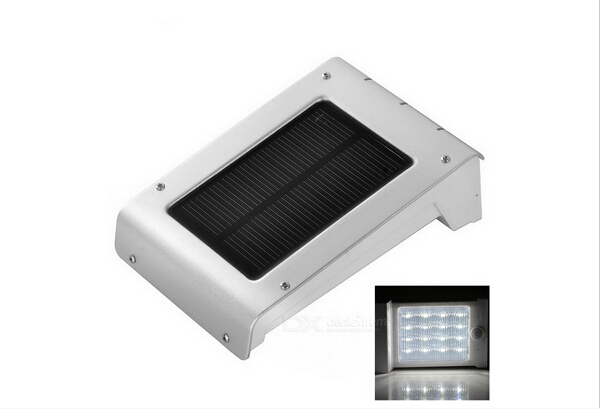 Cheap Outdoor Rechargeable Aluminum Lamp Body Solar Sensor Wall Light in IP65