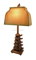 customized decorative painted poly resin Turtle Stack Table Lamp