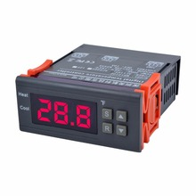 Mini DC 12V/10A Temperature Controller Electronic Thermostat MH1210F LED Digital Display -58F-194F Temperature Calibration