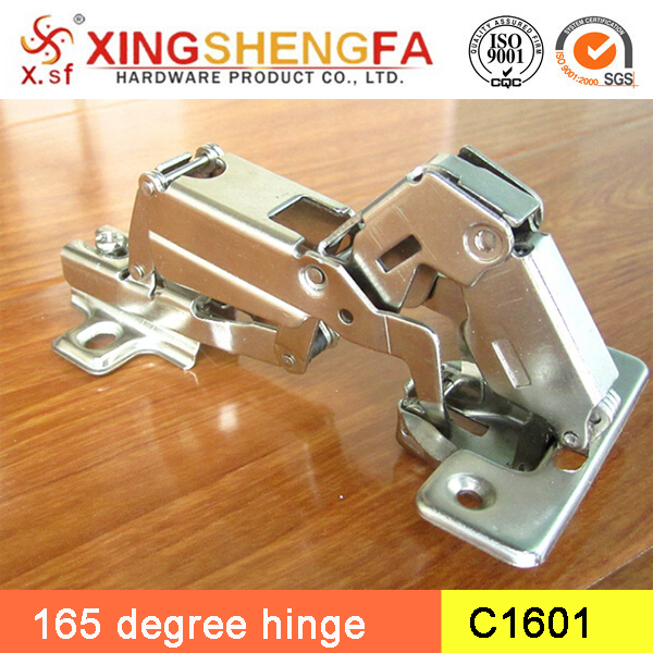 C1601 glass door hinges 165 degree adjustable cabinet hinge