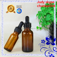 20ml 50ml America editionamber glass bottles for essential oils with child proof cap and glass pipette