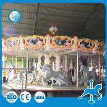 cheap selling amzing kids game amusement park rides equipment 24 seats swing carousel horse ride
