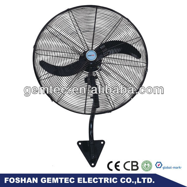 30 Inch Cheap Powerful Metallic Two Blades Industrial Wall Hanging Fan