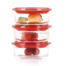 High borosilicate glass food storage 2 compartments oven & microwave use