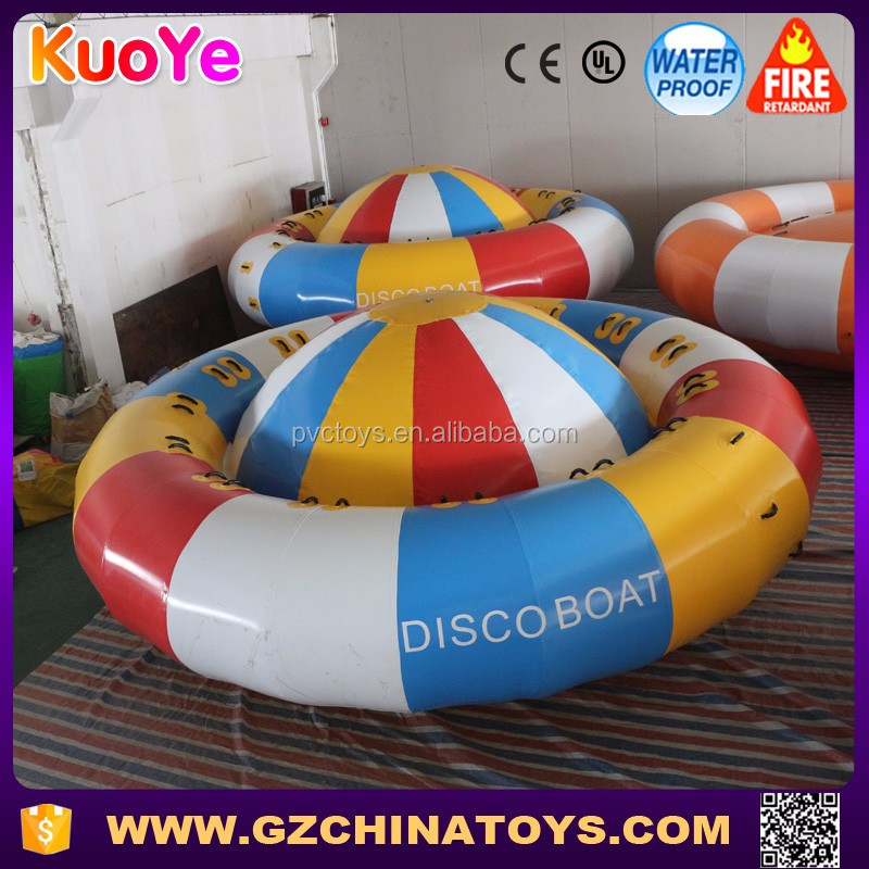 New design water toy commercial grade inflatable disco boat for sale