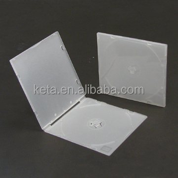 5.2MM Frosty Clear Single Square Slim PP CD VCD Case With Sleeve