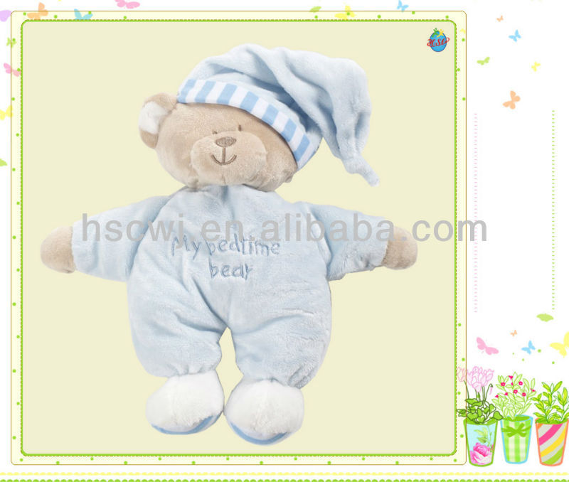 pretty bear cuddly plush stuffed kids sleep toys
