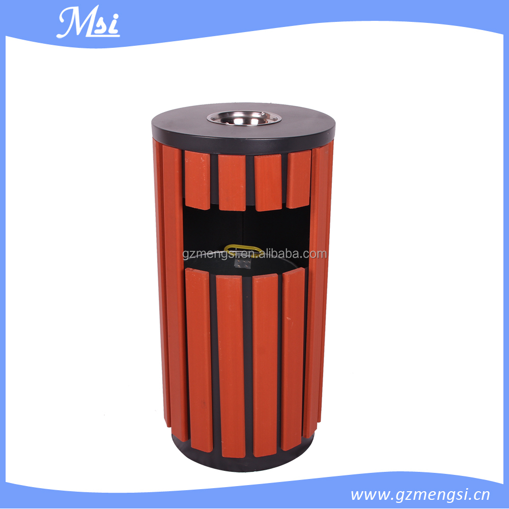 best selling products Low price stainless steel garden wooden dustbin
