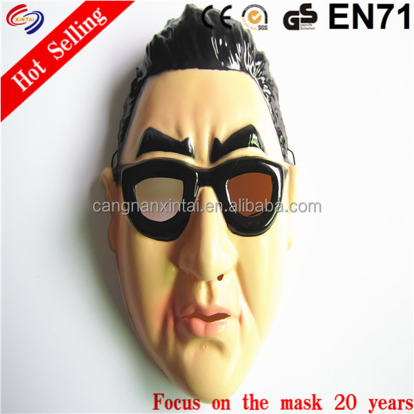 beautiful famous led facial masquered pvc mask to adult
