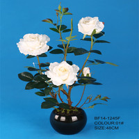 48cm 4 heads pure white Rose