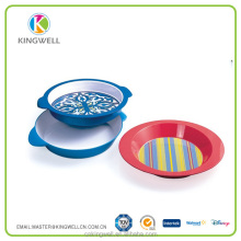 Wholesale Muti-use Round Traditional Printing Cheap Hard Plastic Barware Serving Trays