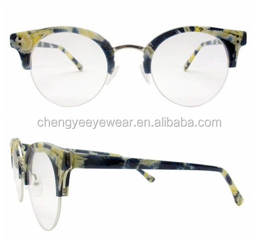 New Half-rim Handmade Eyewear Frame High Quality Italian Design Optical Acetate Frame