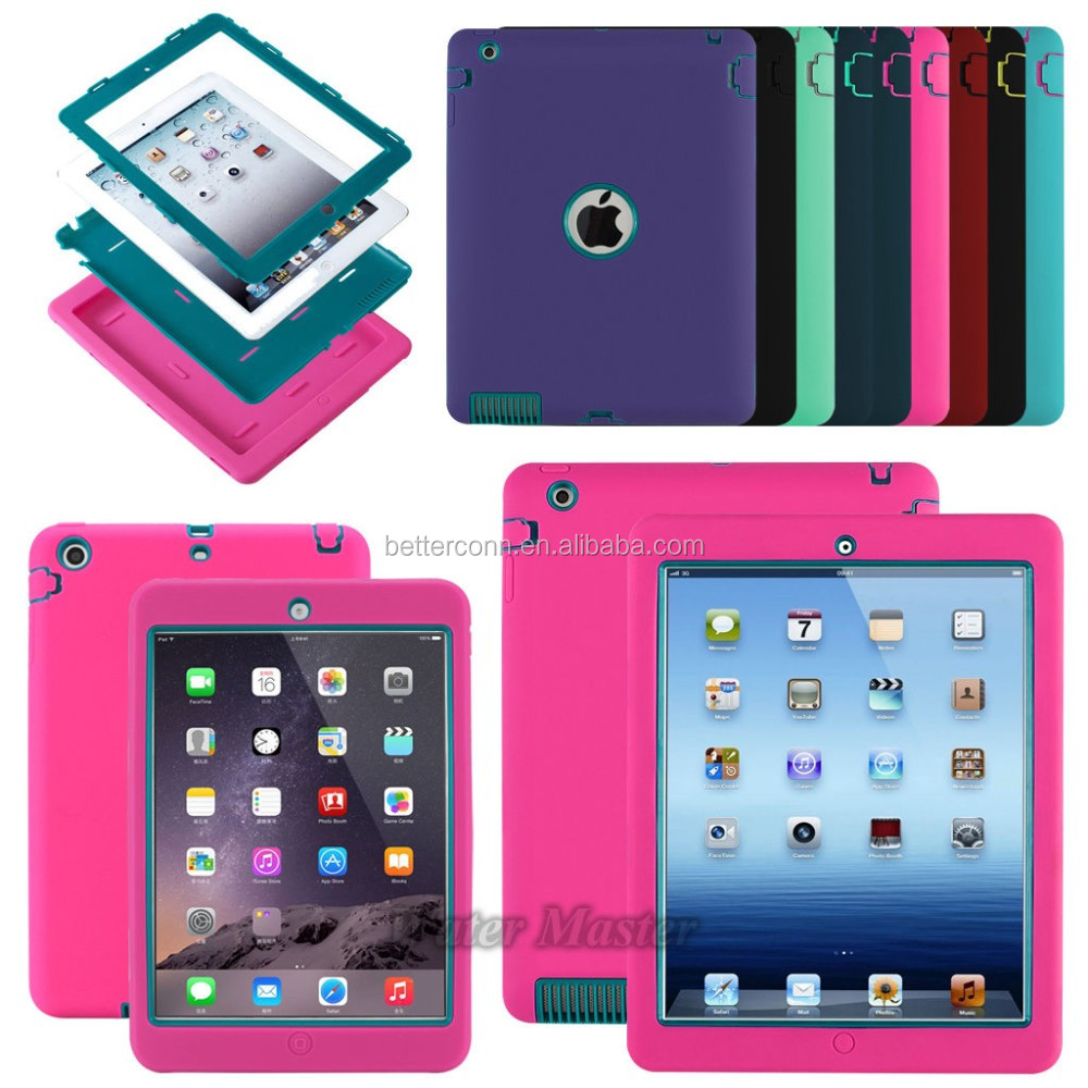 Kid Rugged Hybrid Shockproof Full Protective Case Cover For Apple iPad Mini 1/2/3 4