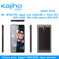 "5.0"" FHD android mobile phone with mtk6735 1.3ghz 2gb Ram +16gb Rom original brand smartphone"