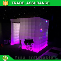 wedding party use inflatable photo booth cube tent