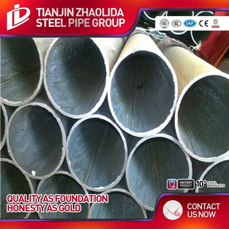 Tianjin top 10 factory ms galvanized round hollow section steel pipe used for construction