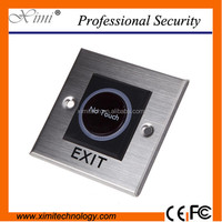 Metal exit buton infrared exit switch no touch door opener for 10cm distance good quality door push burron for access control