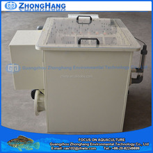 Fish farm rotary drum filter for recirculating aquaculture