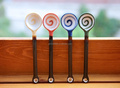 Fruit lollipops Ceramic spoon