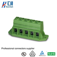 Green screw socket high voltage 15mm screw fixed terminal block