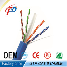 High quality UTP CAT6 0.56mm 23awg BC for CCTV camera security cable