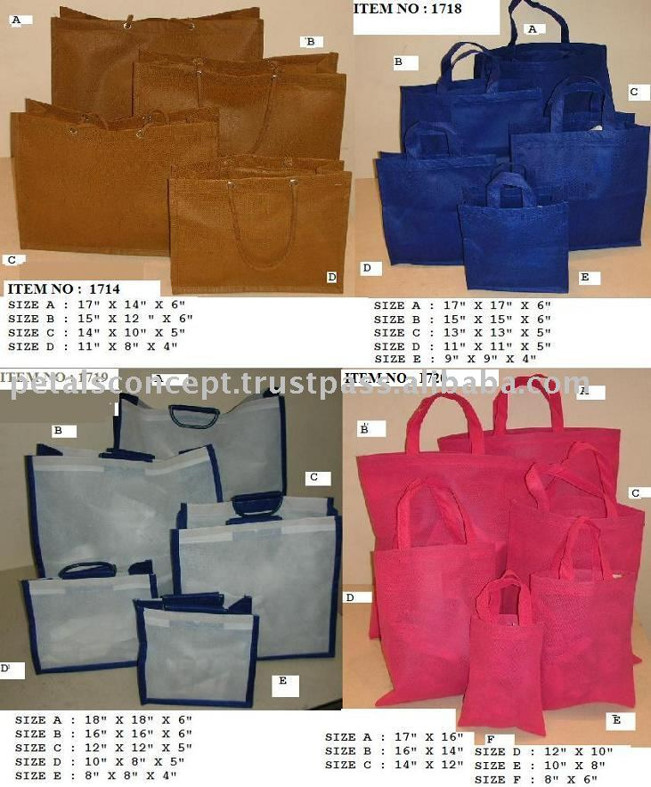 Non woven shopping bags with handle