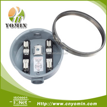 Single Phase Round 100A Aluminum Meter Socket, Electrical Round Meter Base for south America market