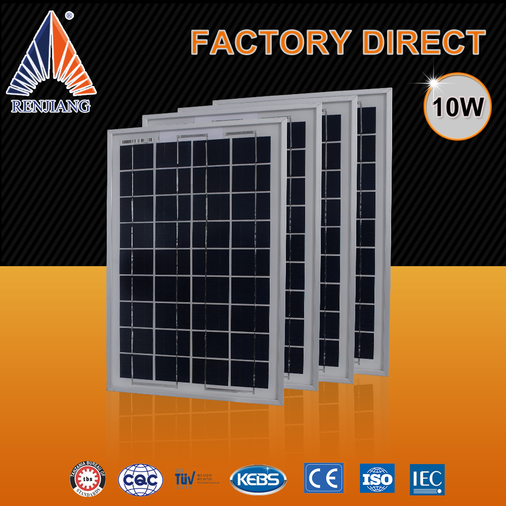 A grade wholesale 18v 10w 36 cells solar panel, poly solar panels for home