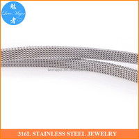 Fashion Jewelry Mesh Stainless Steel Milanese Chain In Bunch For Jewelry DIY Making