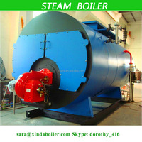 Three return system fire pipe design Oil / Gas fired Wet Back Steam Boilers export to Russia