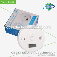 CO Gas Detector Alarm with Battery Power