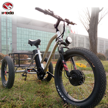 China factory adult sized fat tire electric beach tricycle for sale
