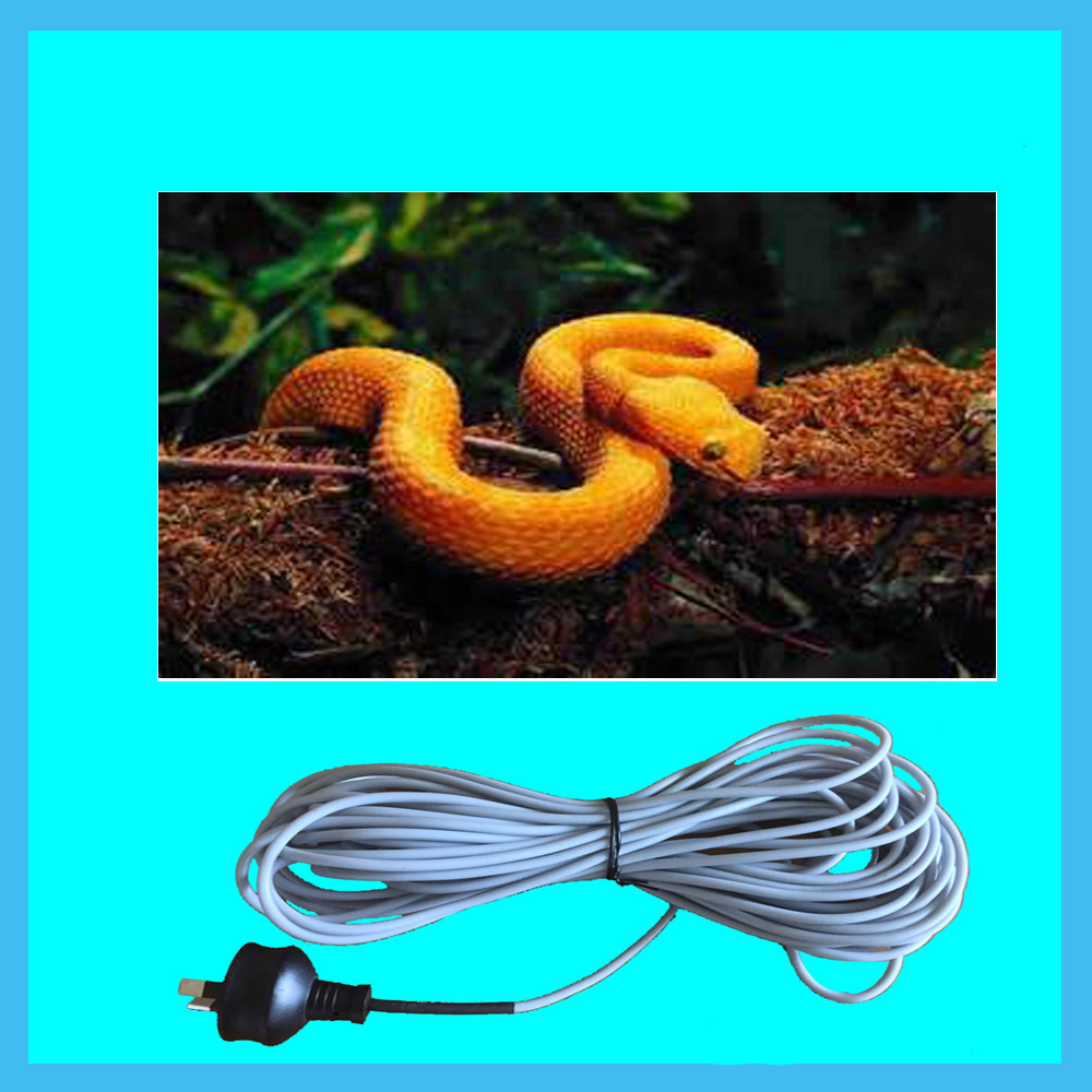 European plug 220v electrical reptile heating cable