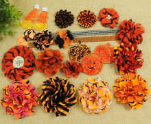 halloween hair flowers with elastic band for baby halloween