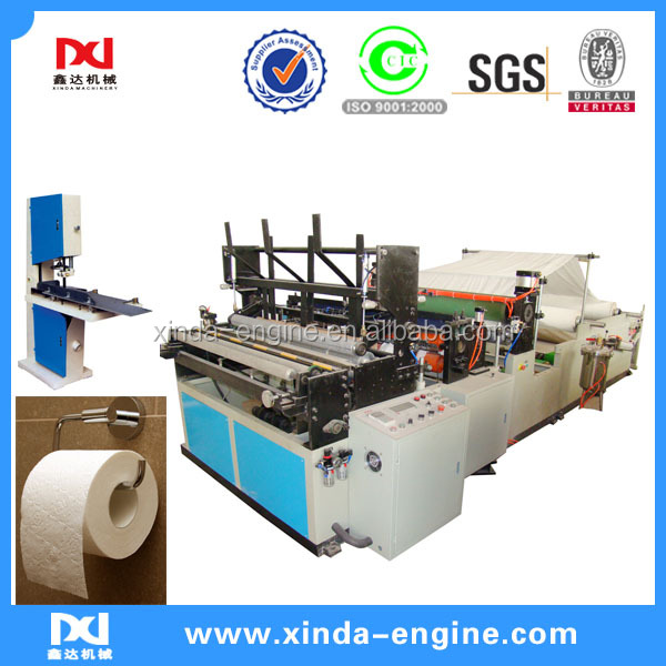 toilet roll paper making machine price,full auto folding and embossing toilet paper roll rewinder SPB