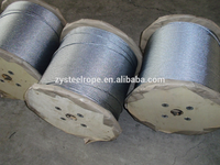 Line contacted electric elevator wire rope 6X19S+FC with 14mm in china